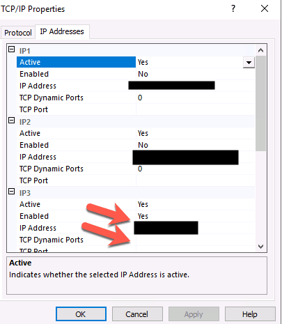SQL server remote port