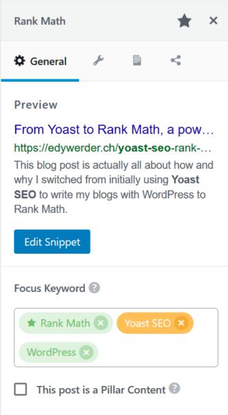 Rank Math Yoast SEO WordPress