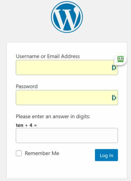 harden WordPress- login captcha