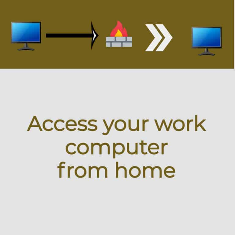 How to access work computer from home – 2 easy ways